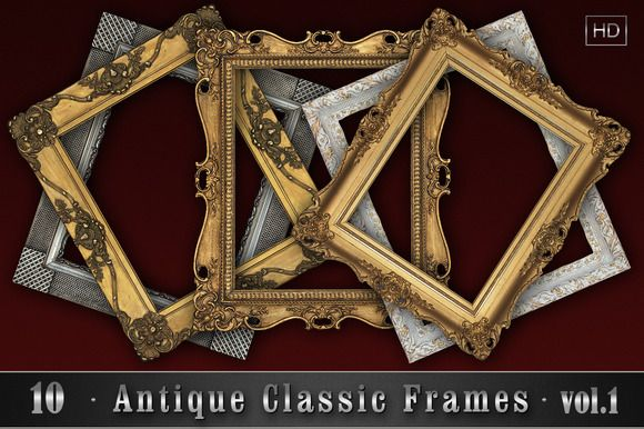 10 Antique Classic Frames vol.1 by Zver on @creativemarket