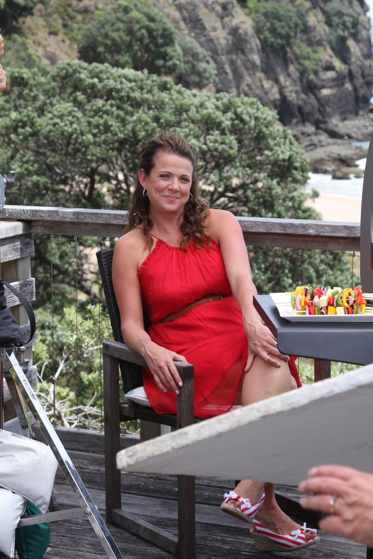 Shooting for Fresh with Ingham's at Butterfly Bay. Loved the red Max dress so much I now own it. Although post baby body in this shot... looks much better now.