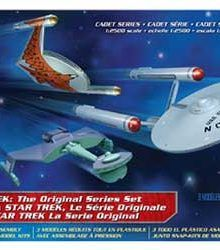 Star Trek Cadet Series TOS Era Ship Set Plastic Model Kit from Star Trek 220x250 Great Star Trek Gift Ideas