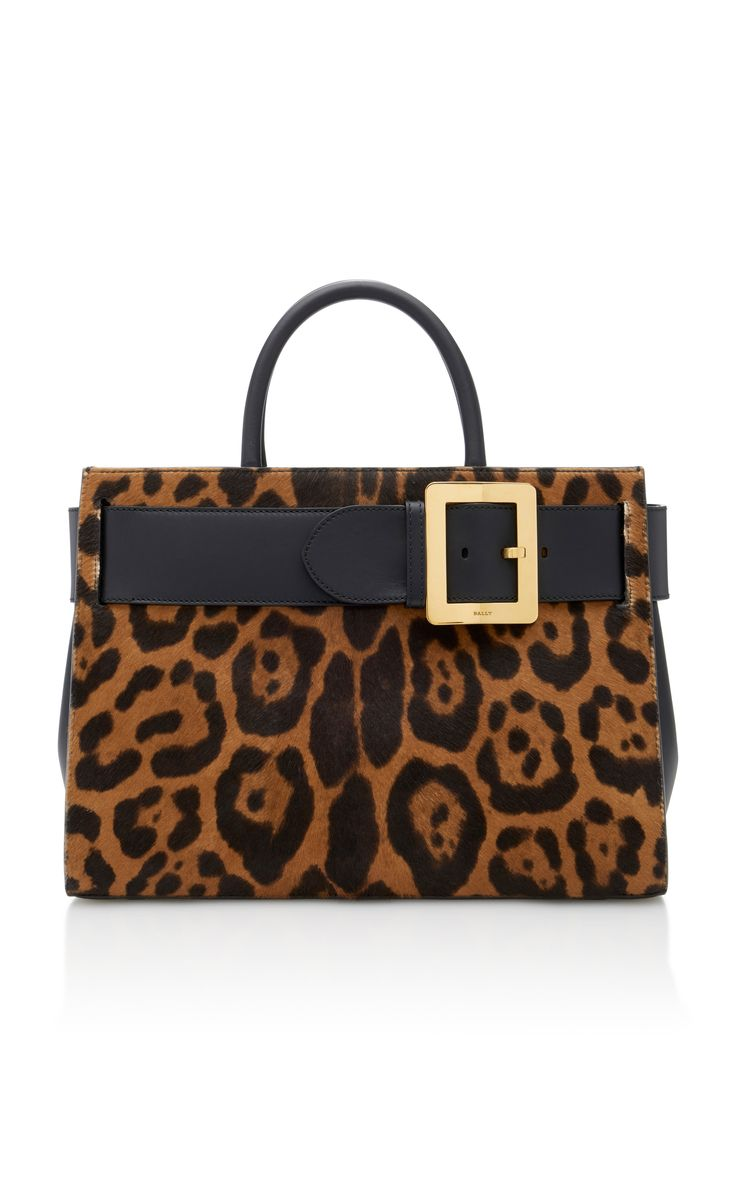BALLY Leather-Paneled Leopard-Print Calf Hair Shoulder Bag. #bally #bags #shoulder bags #hand bags #fur #suede #