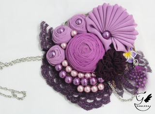 Purple Fresh Statement Necklace