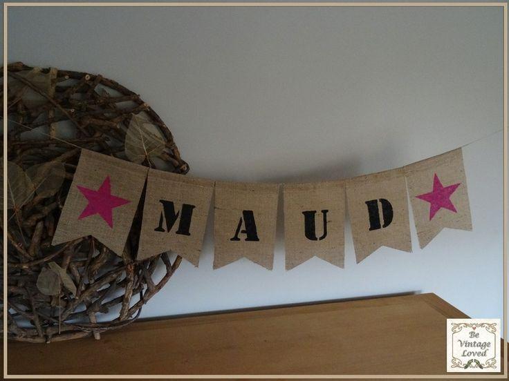 Naamslinger+van+jute+van+Be-vintage-loved+op+DaWanda.com
