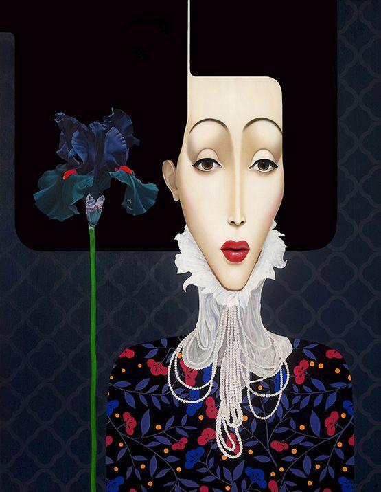 Slava Fokk ''Black Iris'' oil on canvas 140x110cm 2013