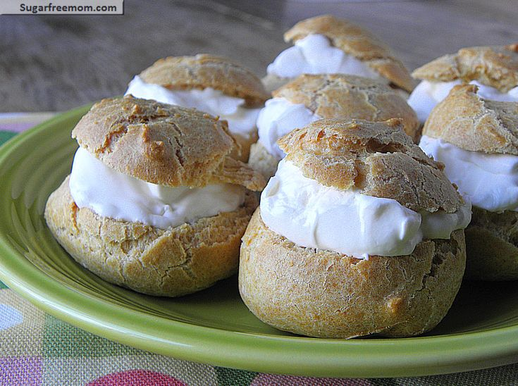 Whole Wheat Sugar-Free Cream Puffs:Only 108 calories, 3 WWP+