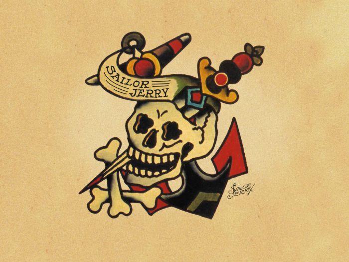 signification tatoo old school tête de mort | tatouages | sailor