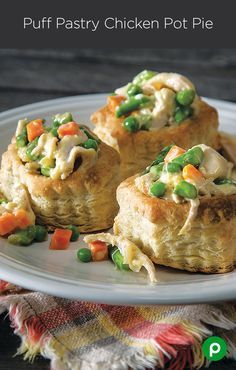 Puff Pastry Chicken Pot Pie: Not all chicken pots are puffed equally.