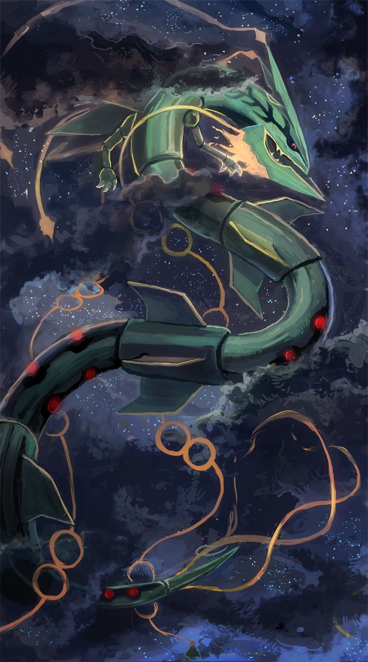 Mega Rayquaza via: http://www.pixiv.net/member.php?id=635157