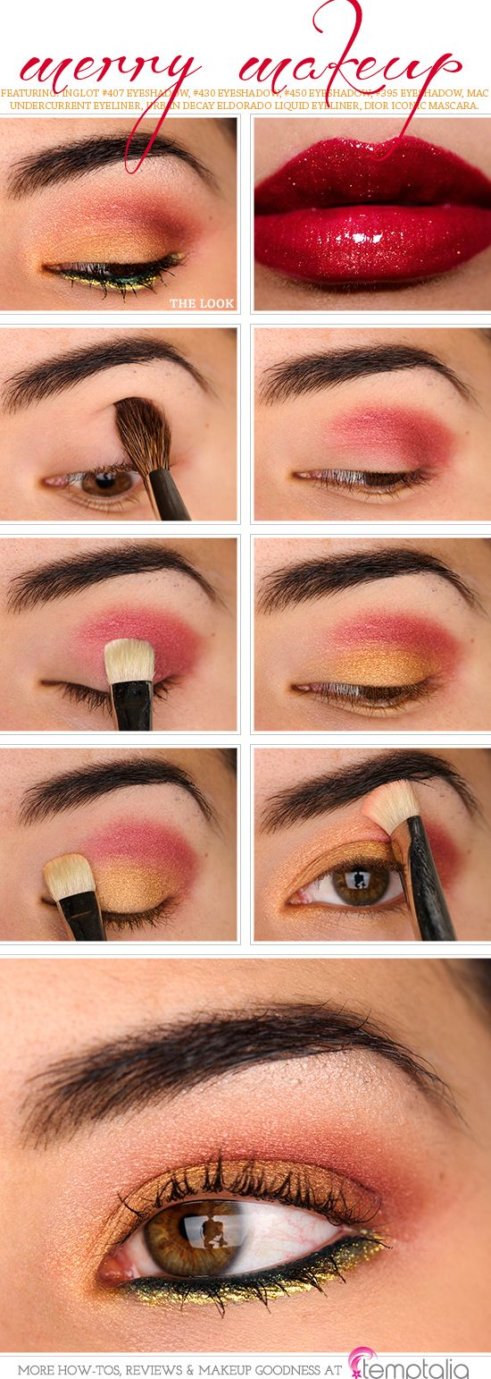 Howto: Merry Makeup How To Apply Eyeshadowred
