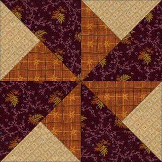 Pumpkin Patch Quilter: Harvest Pinwheels: Whirlwind Pinwheel Block