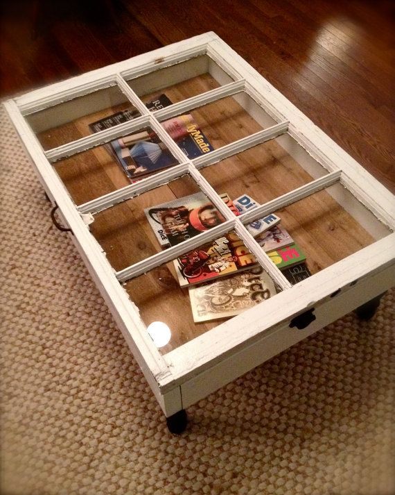 RESERVED For Tiffany Do Not Buy  Reclaimed Window Coffee Table With  Storage, Upcycled, Repurposed