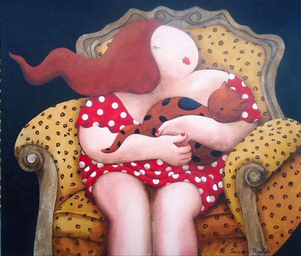 Cuddle my fmujer con gato avorite cat | Susan Ruiter