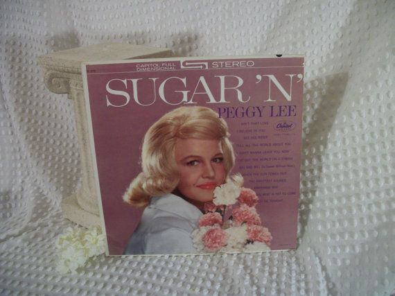 Vintage Peggy Lee Sugar and Spice Album 33RPM by Booth58 on Etsy