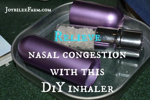 Relieve nasal congestion with this DiY inhaler