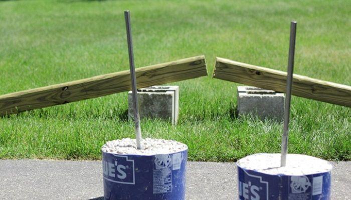 28 best horseshoe pits images on pinterest backyard for How to make a horseshoe