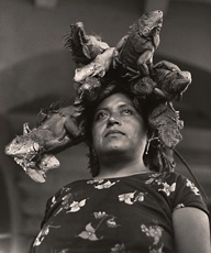 Graciela Iturbide, La Nuestra Senora de las Iguanas, Juchitan, Oaxaca, Mexico (Our Lady of the Iguanas, Juchitan, Oxaca, Mexico), 1979;    Source: http://www.sfmoma.org/exhib_events/exhibitions/447#ixzz1sxfy0Iik   San Francisco Museum of Modern Art