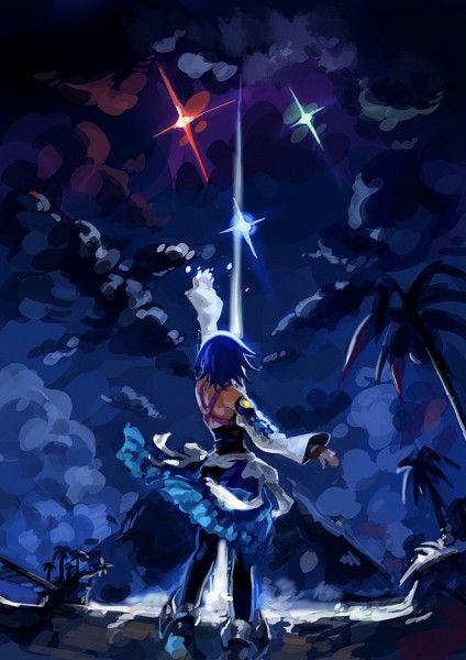 Tags: Anime, Kingdom Hearts, Palm Tree, Aqua (Kingdom Hearts), Kingdom Hearts: Birth by Sleep