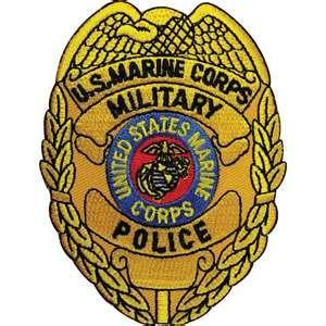 Marine Corp Military police badge