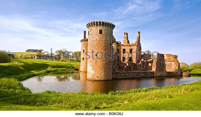 Caerlaverock Castle, Dumfries and Galloway, Scotland. - Stock Image