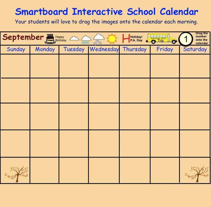Interactive Calendar Games Kindergarten : Whiteboard activities preschool