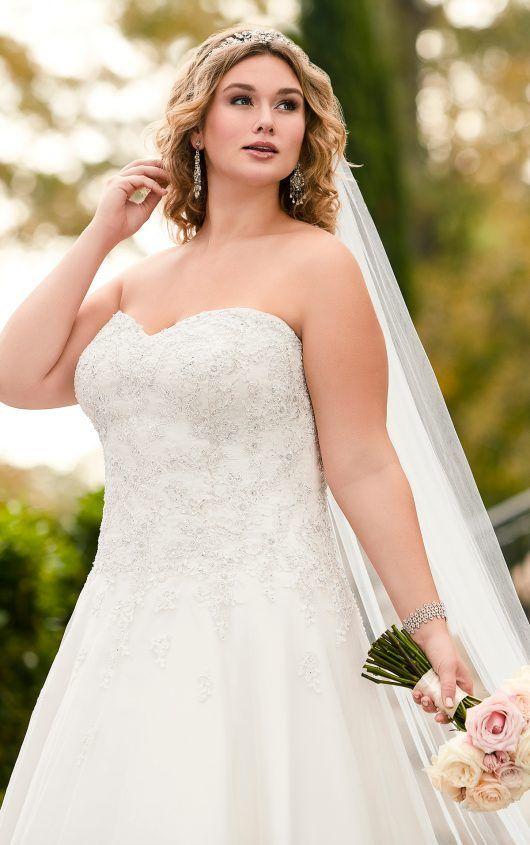 5833 Lace Plus Size Bridal Gown By Stella York