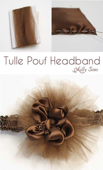 Tulle Headband Tutorial - Melly Sews
