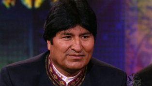 Bolivian president Evo Morales gets the last laugh on Jon.
