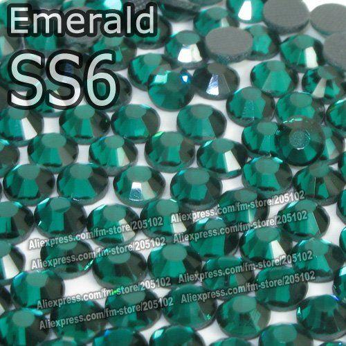 Су-6 1.9 - 2.0 мм, 1440 шт./пакет изумруд DMC исправление FlatBack широкий стразы, Машина вырезать утюг-серый одежды хрустальные камни gliters