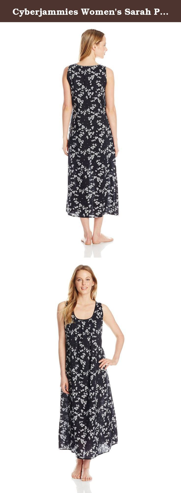 Cyberjammies Women's Sarah Printed Long Nightdress, Black Mix, 10/Medium. Cyberjammies offer exceptional quality nightwear and lounge wear, too good to sleep in. Our fabrics are extra soft and specifically designed for comfort in bed. Our colors, trims and styling are fun and different. Fit is comfortable, yet feminine to ensure you look stylish in the bedroom or on the sofa.