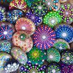 """1,130 Likes, 12 Comments - Mandalas and painted rocks (@createandcherish) on Instagram: """"#mandalas #paintedrock #paintedstonw #createandcherish #sea #landscape #mountains #nightsky…"""""""