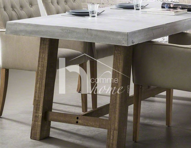 101 best images about table de salle manger design ou for Table a manger beton