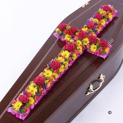 "Classic Cross Vibrant * | Mansi Florist | Pinner, Middlesex"""