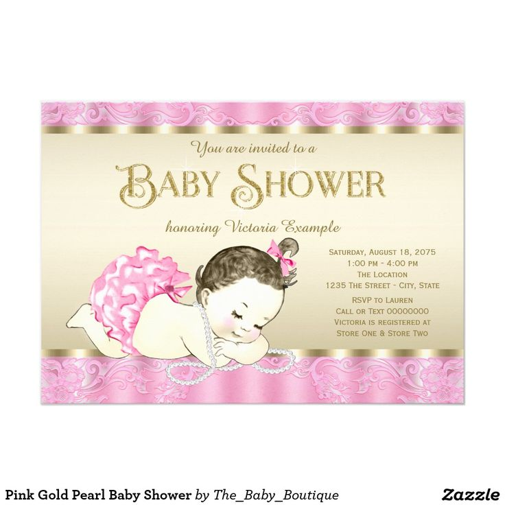 72 best images about pink gold baby shower ideas on pinterest, Baby shower invitations