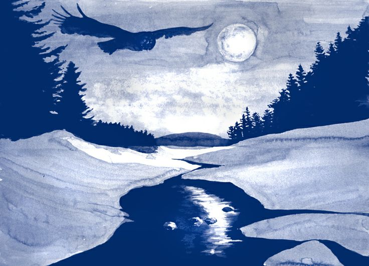 Owl and Moon ~ A Pause for Beauty