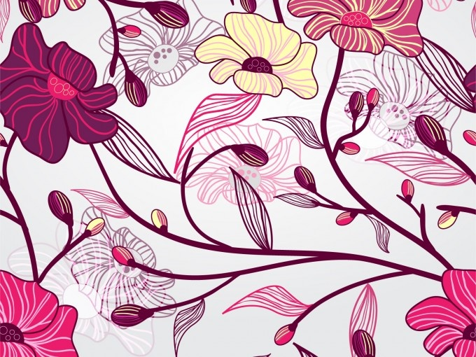 Artistic Flowers Presentation PPT Backgrounds - Powerpoint Backgrounds