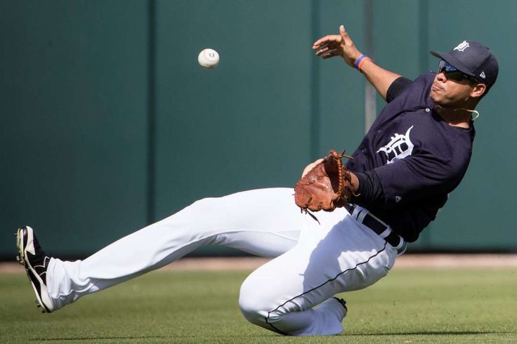 2017 spring training:     College ball:    Detroit Tigers right fielder Steven Moya makes an out during the fifth inning of a spring training game against Florida Southern on Feb. 23  in Lakeland, Fla.
