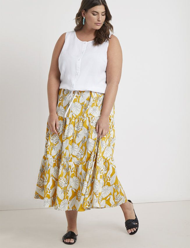 e1fca13d73 Tiered Maxi Skirt | Women's Plus Size Skirts in 2019 | Plus Size ...