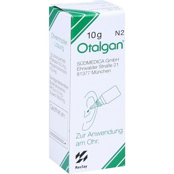 OTALGAN Ohrentropfen bei Ohrenentzündung / Mittelohrentzündung:   Packungsinhalt: 10 g Ohrentropfen PZN: 04884645 Hersteller: Südmedica…