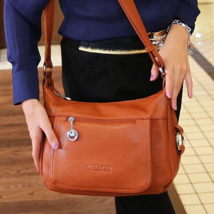$45.43 (Buy here: https://alitems.com/g/1e8d114494ebda23ff8b16525dc3e8/?i=5&ulp=https%3A%2F%2Fwww.aliexpress.com%2Fitem%2F2015-women-s-handbag-messenger-bag%2F32668927836.html ) 2015 bolsas feminina Retro women messenger bags handbag Doctor bag Fashion brand Shoulder women leather handbags orange bag for just $45.43