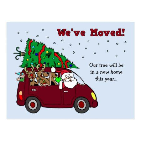 Christmas Moving Announcement postcards - tap to personalize and get yours