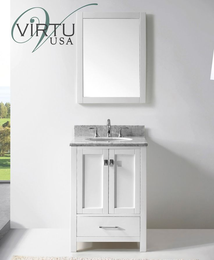 caroline avenue traditional single sink bathroom vanity in white by virtu usa - Bathroom Designs Usa