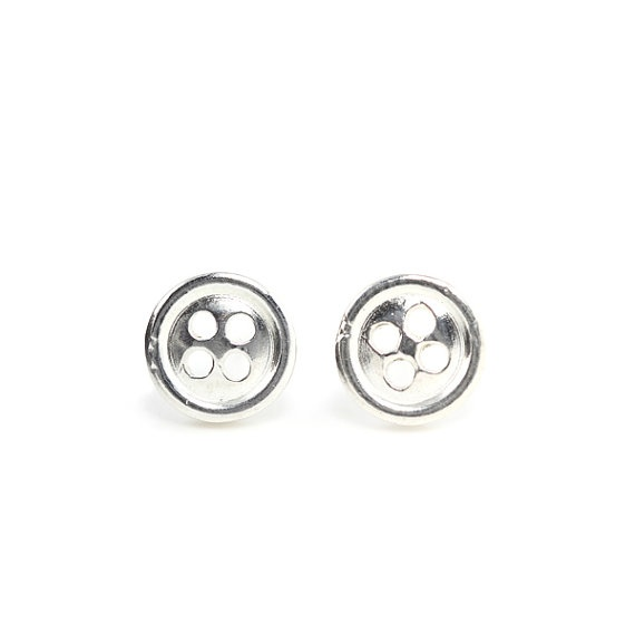 Button Studs sterling silver