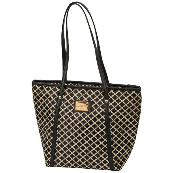 Merangue Patterned Lunch Bag, Black/Tan| Staples