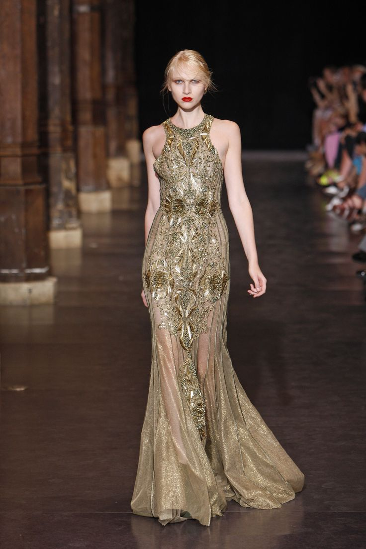 Floor length couture gown