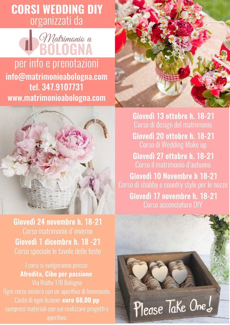 Da ottobre in partenza a Bologna i nostri corsi di wedding DIY! Vi aspettiamo!