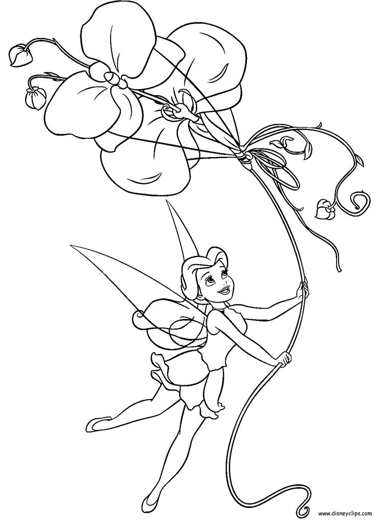 cool tinker bell coloring pages - photo#2