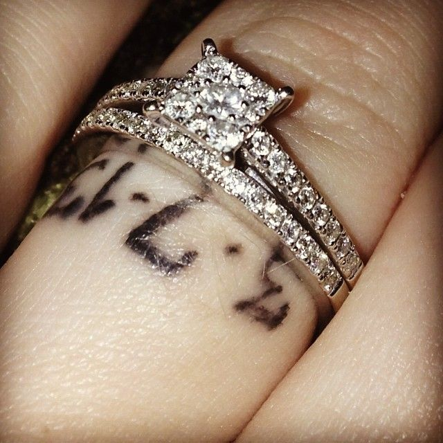 Love this ring and the tattoo
