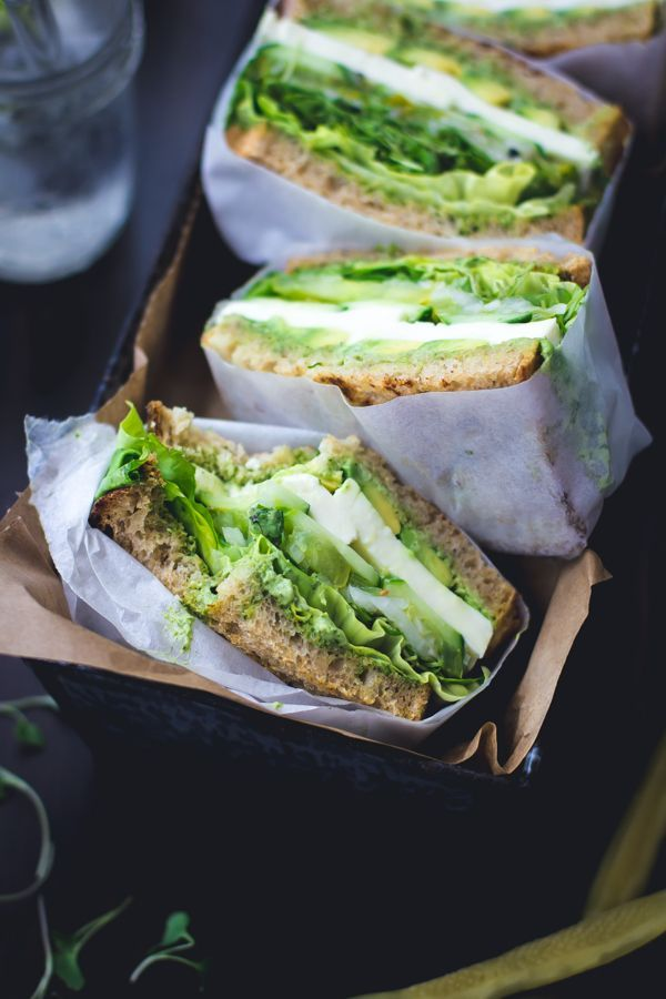 Green Goddess Sandwiches #healthy #green #sandwich