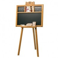 A beautiful floor standing blackboard made from beech wood. It is from the Childhood memories range from Moulin Roty.