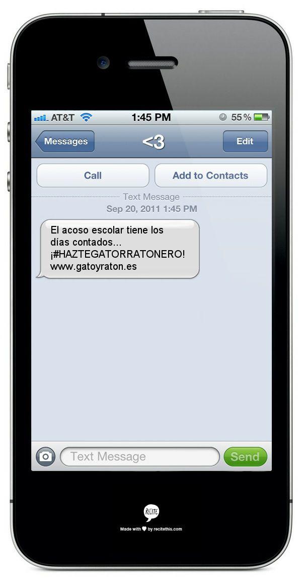 Tienes un mensaje... ¡haztegatorratonero! http://gatoyraton.es/