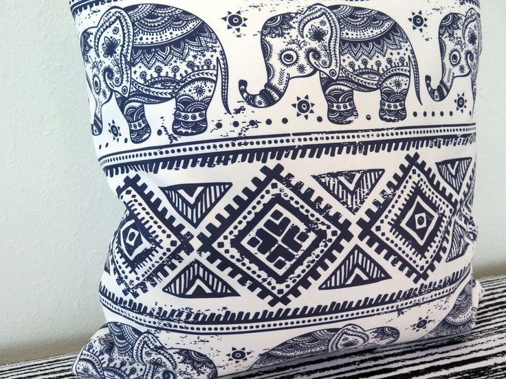 Ethnic Elephant Throw Pillow